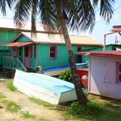 A Typical Beach House on the Isla Roatan