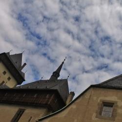 Hrad Karlstejn Against a Beautiful Sky