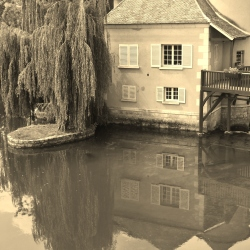 Reflections of the Loing River
