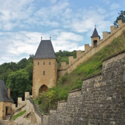 The Castle Walls of the Hrad Karlstejn