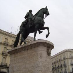 Carlos III at the Puerta del Sol de Madrid