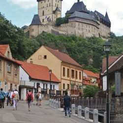 A View of the Hrad Karlstejn from the Village of Karlstejn