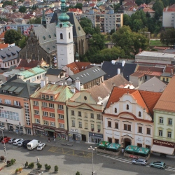 Klatovské náměstí s Bílou věží
