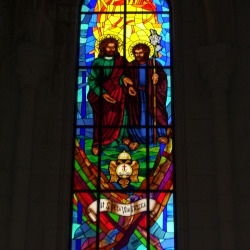 Stained Glass Window at La Almudena Cathedral