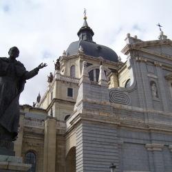 La Almudena and Pope John Paul