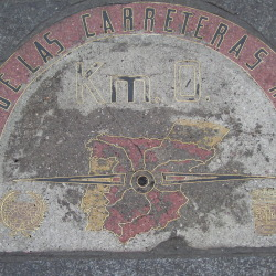 Kilometer Zero in the Puerta del Sol de Madrid