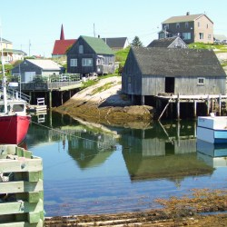 Fishing Houses and Boats in Peggy's Cove
