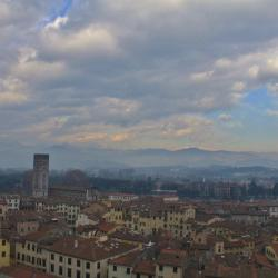 Aerial View of Lucca from the Tower of Guinigi