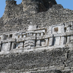 Mayan Carvings of El Castillo of Xunantunich Mayan Temples