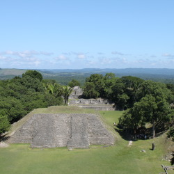 Xunantunich Mayan Temples and the Mountains of Guatemala