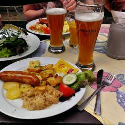 German Lunch with Excellent Beer