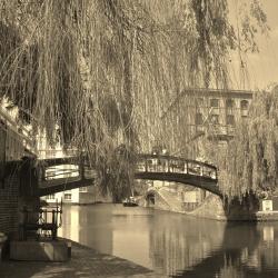 The Locks in Camdentown in Sepia
