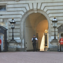 Guarding the Queen at Buckingham Palace