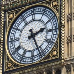 A Close-up of the Clock of Big Ben