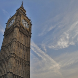 Big Ben Looking Very Magestic Against the Brilliant Sky