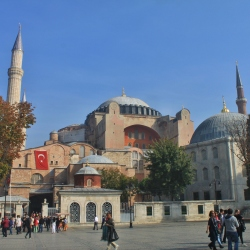 The Haggia Sofia on a Beautiful Autumn Day