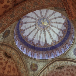 The Beautiful Tiled Dome of the Blue Mosque
