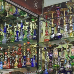 Wonderful Waterpipes in a Shop