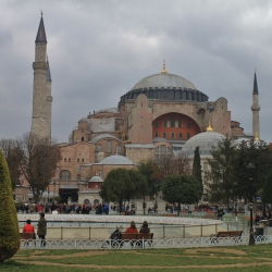 The Haggia Sofia on a Cloudy Day in Istanbul