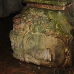 The Head of a Roman Goddess in The Cistern or Yerevatan Sarnici