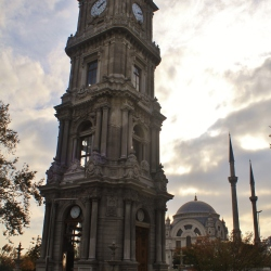 The Clock Tower and Mosque of the Dolmabahçe Palace