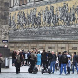 Dresden Germany Mural People Tourists Saxony Saxon Kings