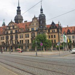 Dresden Germany Tram Building baroque