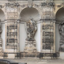 Dresden Germany Zwinger Castle Palace Statues Fountain