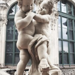 Dresden Germany Zwinger Castle Palace Statue Babies Gardens