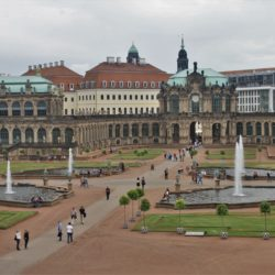 Dresden Germany Zwinger Castle Palace Fountains Gardens