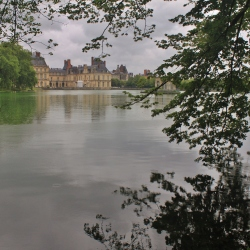 The Chateau of Fontainebleau and the Gardens