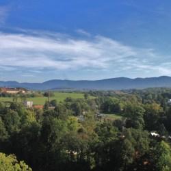 Jizerské hory from Zamek Frýdlant