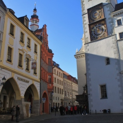 Schönhof Court and the Rathaus as viewed from the Untermarket
