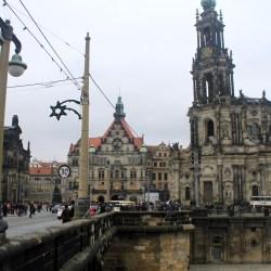 Katholische Hofkirche and Residenzschloss