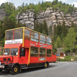 Antique Bus in Oybin